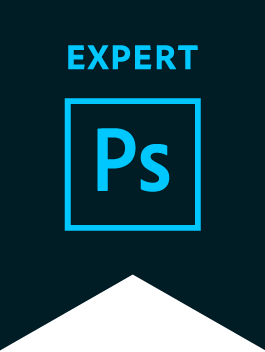 Adobe Photoshop Expert Badge