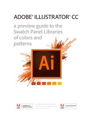 Illustrator CC swatch libraries guide 2014