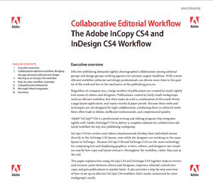 InCopy CS4 collaborative editorial workflow overview