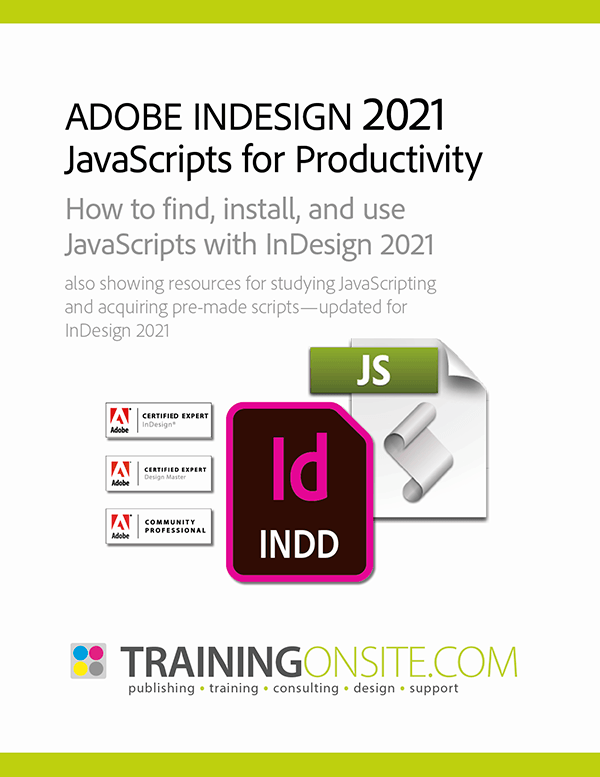 InDesign 2021 JetSet JavaScripts