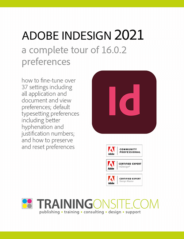 InDesign 2021 a complete tour of preferences