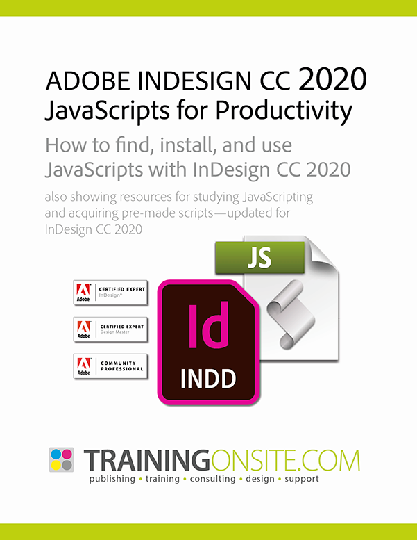 InDesign CC 2020 JetSet JavaScripts
