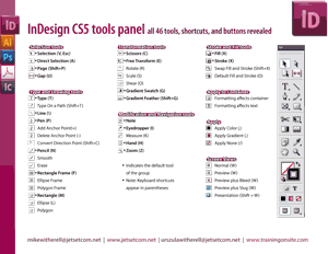 InDesign CS5 tools panel illustrated